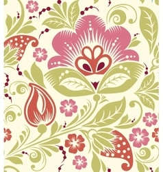spring Summer floral seamless pattern vector image