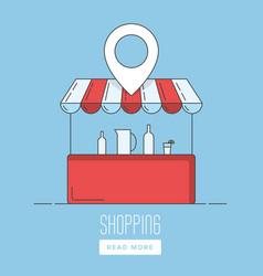 supermarket location icon vector image