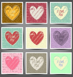Vintage style design for Valentine Day vector image