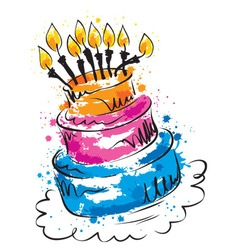 - funny cake vector image vector image