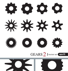 Gear Icons Design Elements Logo Elements Set 2 vector image vector image