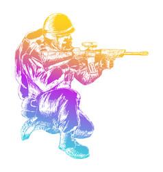 sketch soldier vector image