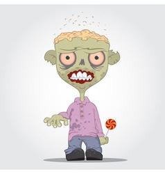 Zombie boy vector image