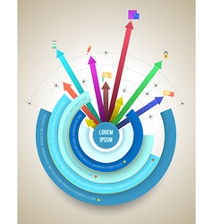Abstract business info graphics circle and arrows vector image vector image