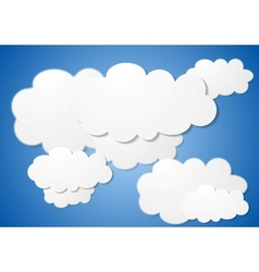 Abstract cloudy background vector image