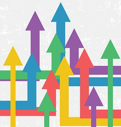 Arrows Showing Growth Background Retro Business vector image