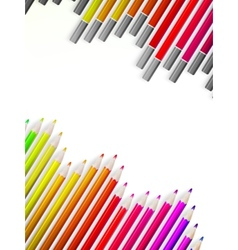 Back to school with multicolored pensils eps10 vector