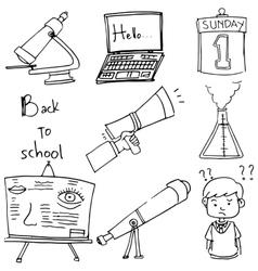 Element school doodle laptop paper vector image vector image