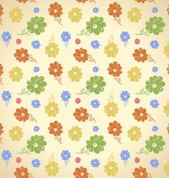 flower pattern Seamless background Green yellow vector image