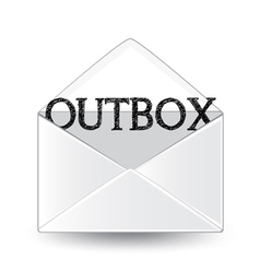 Outbox vector image vector image