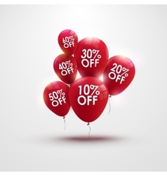 Discounts balloons with discount numbers vector image vector image