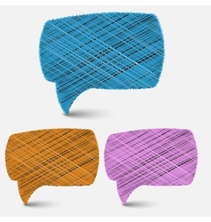hand draw speech bubbles backgroundeps 10 vector image