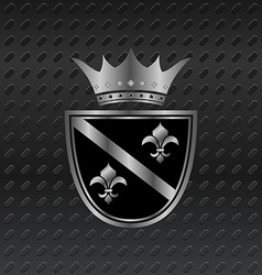 heraldic elements on metallic background - vector image vector image