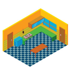 isometric kitchen vector image vector image