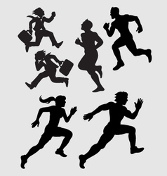 Running Silhouettes 1 vector image vector image