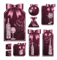 wine tag vector image vector image