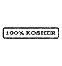 100 percent kosher watermark stamp vector