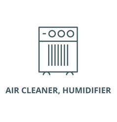 air cleaner humidifier line icon air vector image