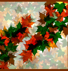 autumn background of maple leaves vector image