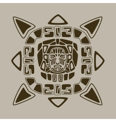 Aztec face design vector