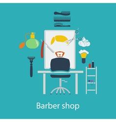 Barber shop flat design vector image