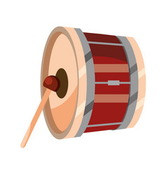 bass drum percussion musical instrument isolated vector image