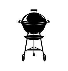 bbq grill design element for poster card vector image