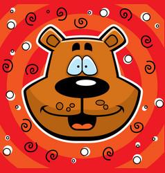 bear smiling vector image