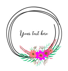 beautiful round frames with flower for decoration vector image