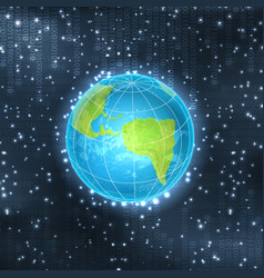 Binary background with planet vector