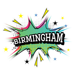 birmingham comic text in pop art style vector image