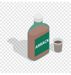 Bottle of arrack isometric icon vector