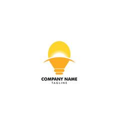 bulb idea logo template vector image