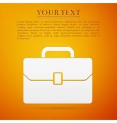 Business case flat icon on orange background vector