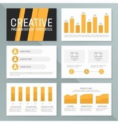 business presentation template set Graph vector image