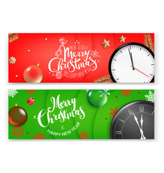 christmas banners template merry christmas and vector image