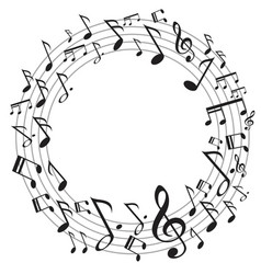circle music notes vector image