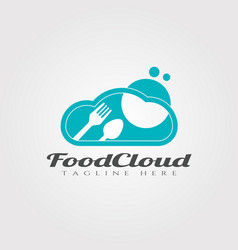 Cloud food logo designfood icon vector