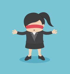 concept blind young businesswoman vector image