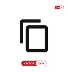 copy content icon vector image