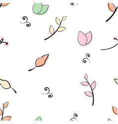 Doddle flower leaf branch pattern vector