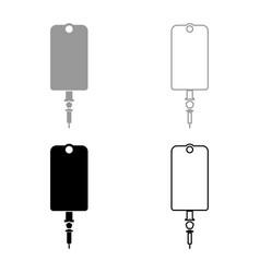 dropper package bottle installator icon set grey vector image