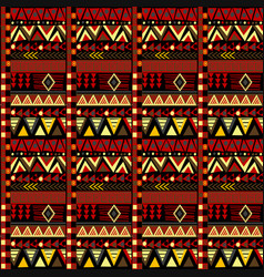 ethnic african motifs geometrical pattern vector image