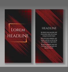 Fast speed lines motion brochure template vector