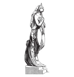 Female sculpture was sculpted milanese vector