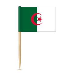 flag of algeria toothpick on white background vector image