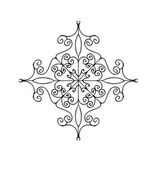 Flourish ornament isolated on white background vector