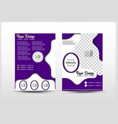 Flyer design purple color abstract concept vector