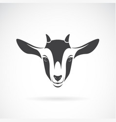 Goat head design on a white background animal vector