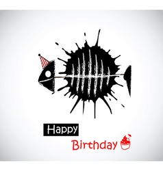 Happy Birthday fish vector image